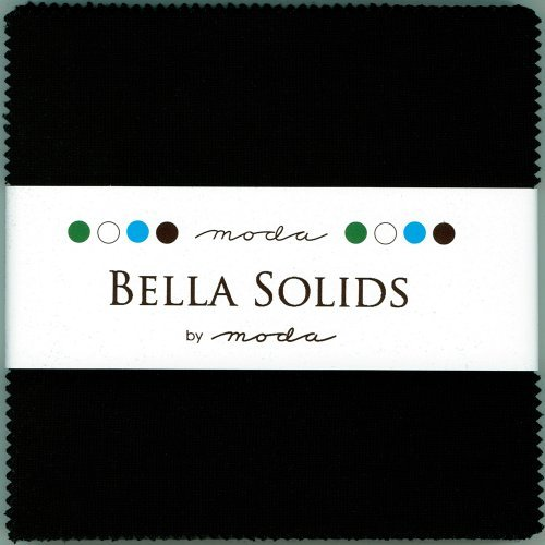 Quilt Fabric Charm Packs - Bella Solids Blacks Moda Charm Pack By Moda Fabrics; 42-5