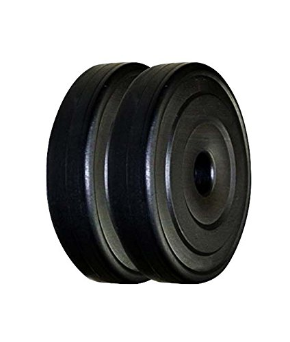 Aurion Weight Plate disc Vinyl Standard Weights Plates Set for Weight Lifting Dumbbell Bars Strength Training Home Gym Fitness Workout(4 KG to 30 kg)