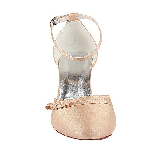 Scarpe Emily Tacco Bridal Champagne Caviglia da Cinturino Scarpe Alto Avorio da Sposa Tacco Alto Sposa Sposa alla Scarpe da SZHS8qwx