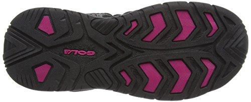 Femmes Noir 2 Shingle Gris Gola Athletic Noir Rose Sandals dfSwWdqT7