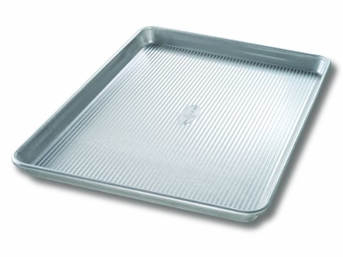 USA Pan Bakeware Extra Large Sheet Pan, Warp Resistant Nonstick Baking Pan, Made in the USA from Aluminized Steel Aluminized Steel Non Stick Muffin Pan