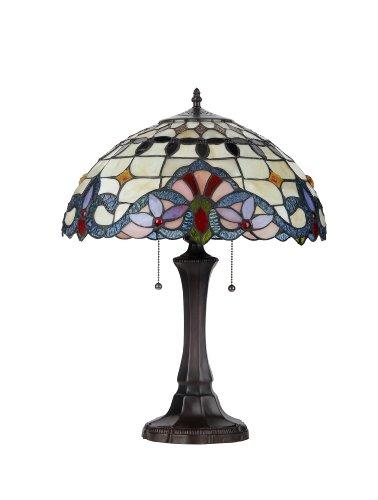"Chloe Lighting CH33313VI16-TL2 ""Cooper"" Tiffany-Style Victorian 2 Light Table Lamp 16″ Shade"