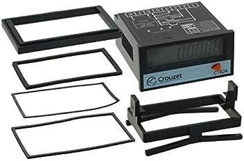 10-260VAC//VDC 6DIGIT CROUZET CONTROL TECHNOLOGIES 87622170 Hour Meter LCD
