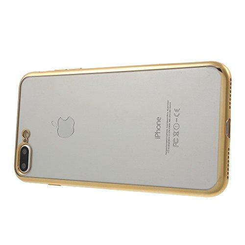 21ce56a627 ... X-FITTED Electroplating Clear TPU Back Tasche Hüllen Schutzhülle Case  für iPhone 7 Plus ...