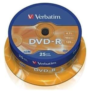 DVD-R 16X VERBATIM TARRINA 25 UDS.