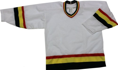 BOYS HOCKEY JERSEY BAUER Canucks WHITE/RED/YEL/BLACK (LIGHT) size YOUTH L/XL