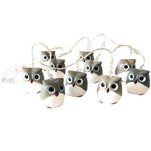CakeLY Halloween Decorations Halloween New Owl Lights String Party Garden Decoration Lights String]()