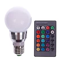 E27 5W RGB LED Magic Light Bulb Lamp + IR Remote Control 16 Colors Change