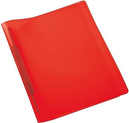 Amtsheftung beidseitig bef/üllbar 1 Schnellhefter kaufm/ännische Heftung Plastik Herma 19538 Spiralhefter DIN A4 transparent rot Kunststoff