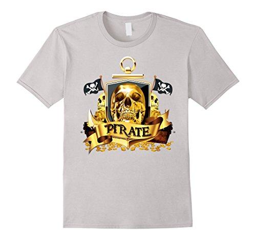 Mens Skull & Crossbones T-shirt Pirate Flag Sailor Shirts/Tee Small (Funny Cross Dressing Costumes)