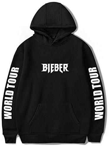(SERAPHY Unisex Pullover Justin Bieber Hoodie Purpose Tour Bieber World Tour sweatshirt for Women/Men Black M)