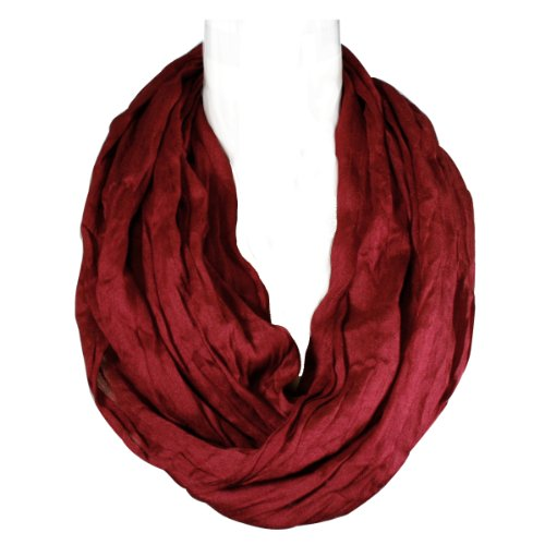 Wrapables Lightweight Silky Infinity Burgundy