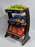 3 Tier Counter Top Basket Display 21-3/4''H x 16-3/4''W x 11-5/8''D