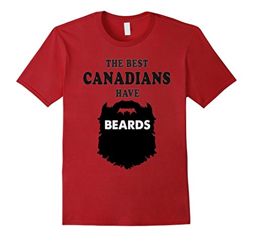 Mens Bearded Canadian Gift Tshirt, Canada costume beards tees XL (Costume For Bearded Man)