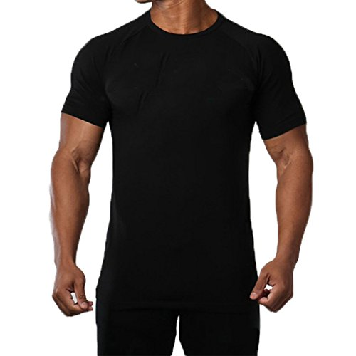 SquareAesthetic Mens Cotton Gym Bodybuilding Blank T-Shirt Tee