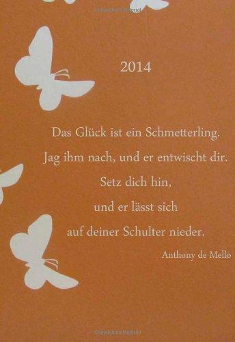 mini-kalender-2014-das-glck-ist-ein-schmetterling-etwa-din-a6-1-woche-pro-seite