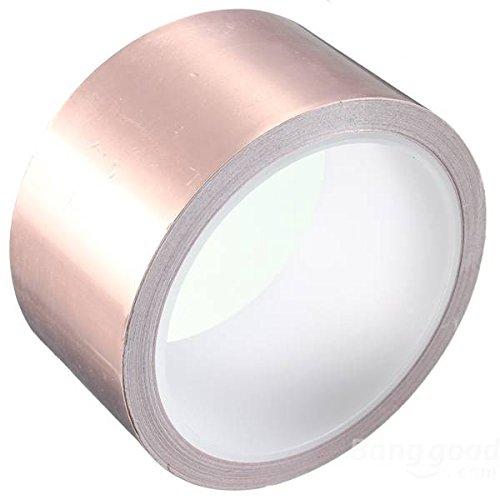 Doradus 5X100cm Copper Foil Tape Single Conductive EMI Shielding Adhesive ()