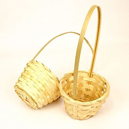 Small Wedding Flower Girl Baskets for Petals and Confetti - 2 ...