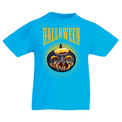 T Shirts for Kids Halloween Pumpkin - Clever Costume Ideas 2017 (7-8 Years Light Blue Multi Color)]()