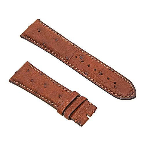Swiss Watch International 24 MM Dark Brown Genuine Ostrich Strap 24DA02M