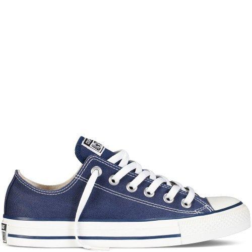 Converse Men's Low Chuck Taylor Navy Canvas Sneaker 7.5 D(M) (Navy Chuck Taylors)
