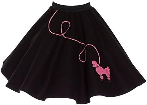 Vintage Girls/' Poodle Circle Skirt