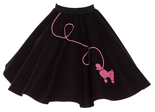 Poodle Skirt for Girls Size Small 4/5/6 Black with Pink