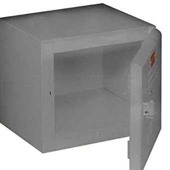 """Equipto 121212-GY Lockable Convenience Cube for Workcenters, 12"""" L x 12"""" W x 12"""" H, Smooth Office Gray"""