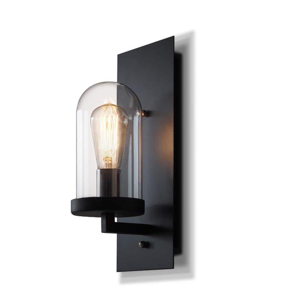 Industrielle Wandleuchte Wandleuchte Retro Leuchter Metall E27 Indoor Home Vintage Leuchten Glas Wandbeleuchtung