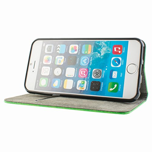 Good Style Apple iphone 6 Case cover, Apple iPhone 6 Green Designer Style Wallet Case Cover