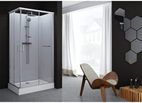 Cabina de ducha rectangular kara 80 x 120 puerta corredera cristal ...