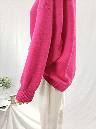 Caramella Lunga Pullover Girocollo Corta Invernale Manica Donna Spricen Color CFwq0x