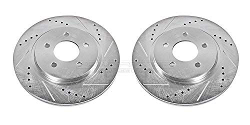 Power Stop AR8174XPR Rear Evolution Drilled & Slotted Rotor Pair