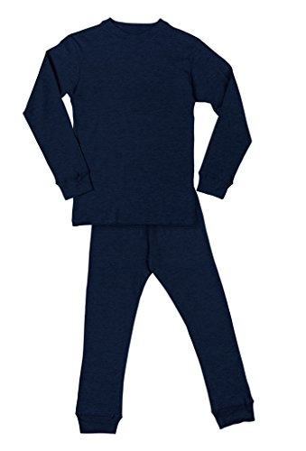 New Mens Thermal Underwear Set (Men's Long John Thermal Underwear Set Navy L)