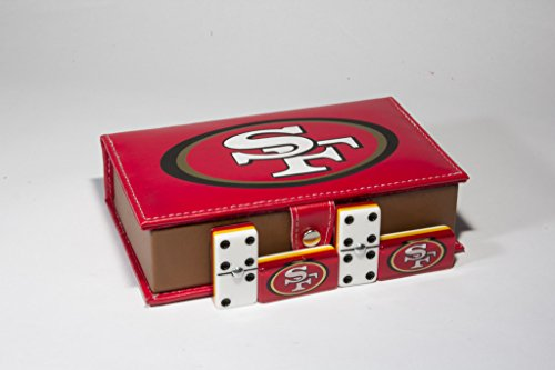 San Francisco 49ers Domino 100% Acrylic, Faux Leather Case by ARSEL