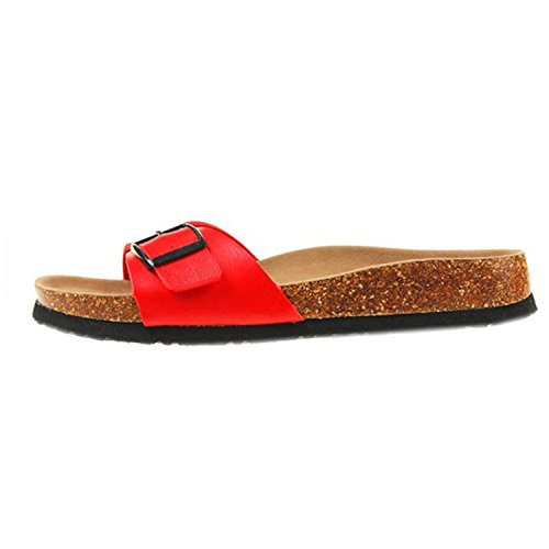 Price comparison product image AndyLiu Cork Slipper Women Casual Mixed Color Slides Shoe 9