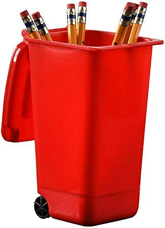 Plastic Toy Garbage Cans Playset - Wastebasket Toys Used for Pencil Holder, Desktop Organizer, Fun Playing, Novelty and Party Favors Red 4 x 3 X 6 (6 Pack) (Green)