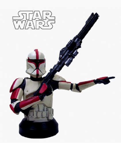Star Wars: Clone Trooper Captain (Red) Deluxe Mini-Bust