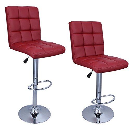 Set of 2 Merlot Red Bar Stools With Ebook (Repair Wicker Phoenix Furniture)