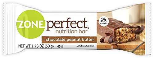 Peanut Butter Crunch Flavor - 	ZonePerfect Nutrition Snack Bars, Chocolate Peanut Butter, 1.76 oz, (30 Count)