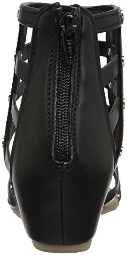 Wedge Report Maxton Women's Black Sandal ESqwPx8ZP6