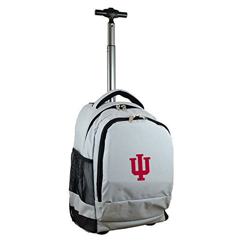Denco NCAA Indiana Hoosiers Expedition Wheeled Backpack, 19-inches, Grey ()