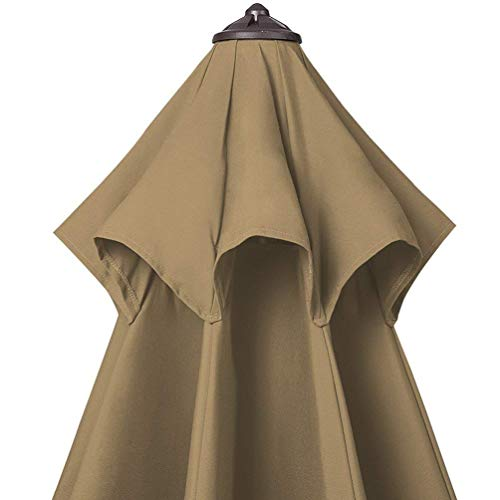 Bayside21 Replacement Canopy Only for 9 8 Ribs Sunbrella Patio Market Umbrella Replacement Canopy Only, Sunbrella Sesame