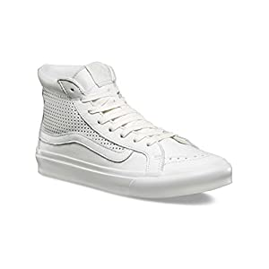 Vans Womens Sk8 Hi Slim Canvas Hight Top Lace Up Fashion, White White, Size 9.0