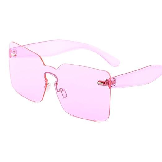 Yangjing-hl Gafas de Sol de Gran tamaño para Mujer Amarillo ...