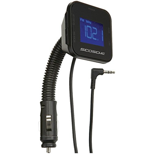 Scosche TuneIt Universal Digital FM Stereo Transmitter with Flexible Neck for Cell Phones & Smartphones, MP3 Players, iPods and More Music Devices, Black (Non-Retail Packaging) (Scosche Digital Fm Transmitter)