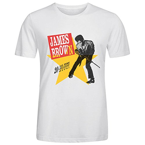 James Brown 20 All Time Greatest Hits Cool Mens T-Shirt White (Greatest Firearms 100)