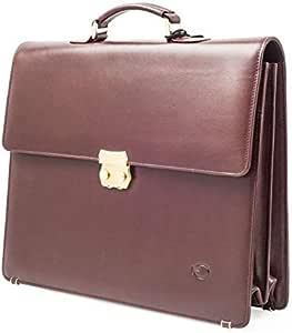 حقيبة عمل لون بني للرجال
