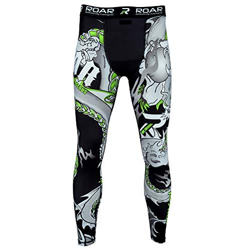 43293a5ca Roar BJJ Rash Guards MMA Grappling Jiu Jitsu Training No Gi Fight Wear  Shirt UFC (Darken Green, Large)