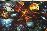 Valance with Space Planet Theme Curtain Window Treatment Topper